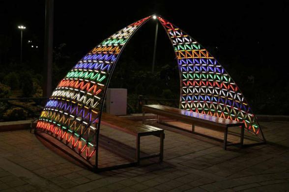 المان نوری شهری در پارک - مدل آلاچیق